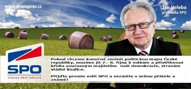 Předseda SPO Jan Veleba a jeho videopozvánka k volbám